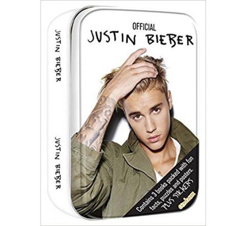 Justin Bieber Gift Present Tin 3 Books