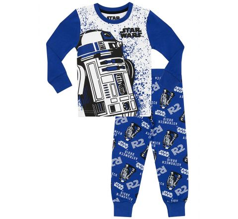 Star Wars Boys R2D2 Pyjamas - Ages 3 to 13 Years