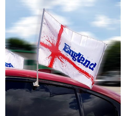 Pack of 2 England Car Flags