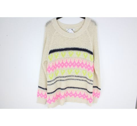 Cream crochet jumper