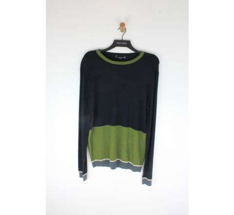 Navy and sage  jumper