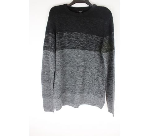 Longline black/grey jumper