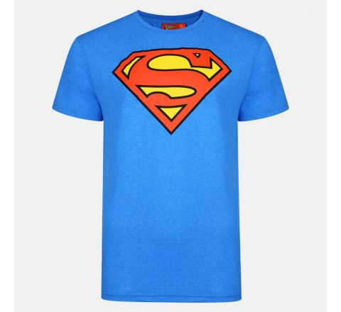 Mens  Officially Licensed Blue Superman T-Shirt with Superman Logo XS - M